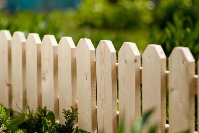 Holz im Garten